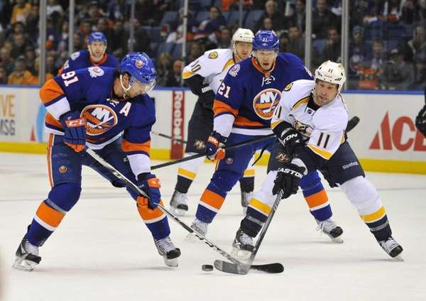 John Tavares of the Islanders and David Legwand