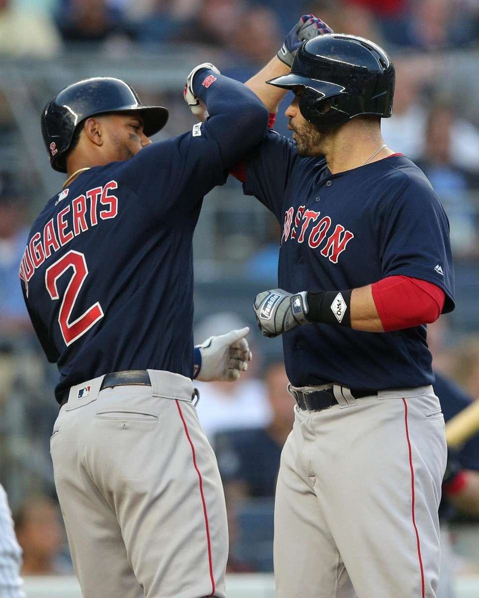 Boston Red Sox designated hitter J.D. Martinez (28)