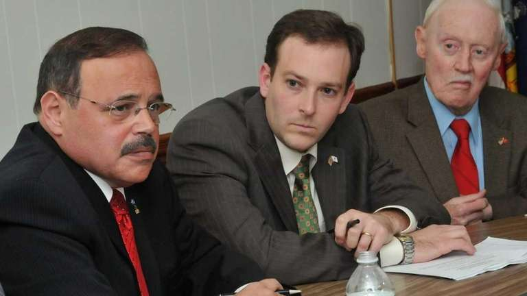 From left: Suffolk County Legislator Rick Montano, with