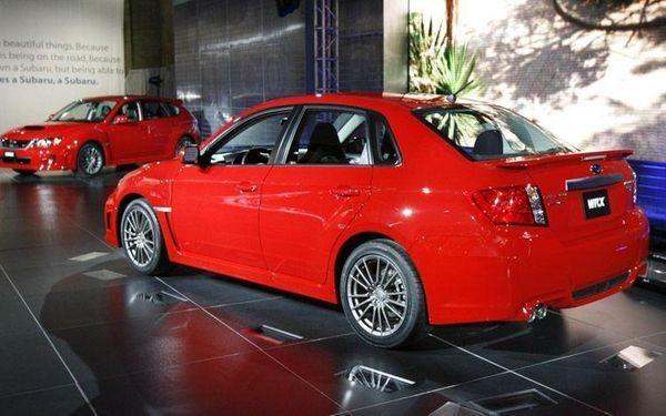 A performance car, like this Subaru WRX, can