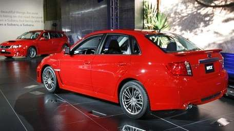 A performance car, like this Subaru WRX, can