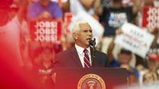 Vice President Mike Pence speaks during a rally