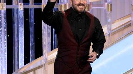 Ricky Gervais onstage at the 69th Annual Golden