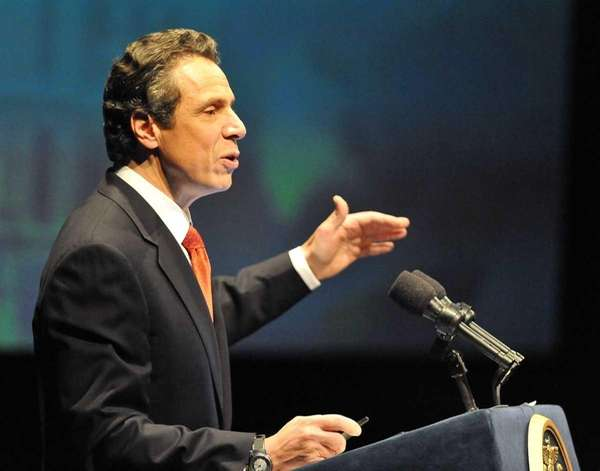 New York State Gov. Andrew M. Cuomo gives