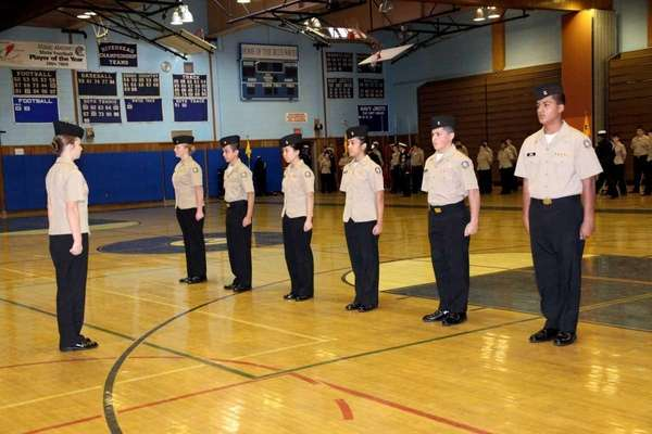 Riverhead High School's drill team placed first in