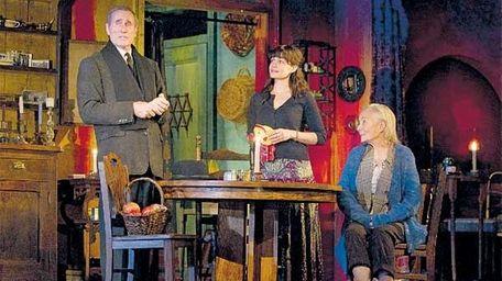 Jim Dale, left, Carla Gugino, center, and Rosemary
