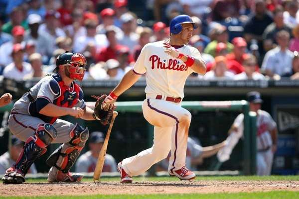 Raul Ibanez once of the Philadelphia Phillies hit
