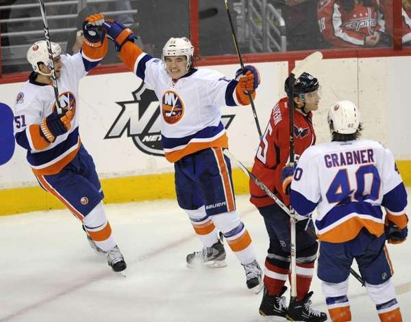 New York Islanders right wing P.A. Parenteau, second