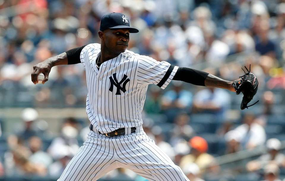 Domingo German #55 of the New York Yankees