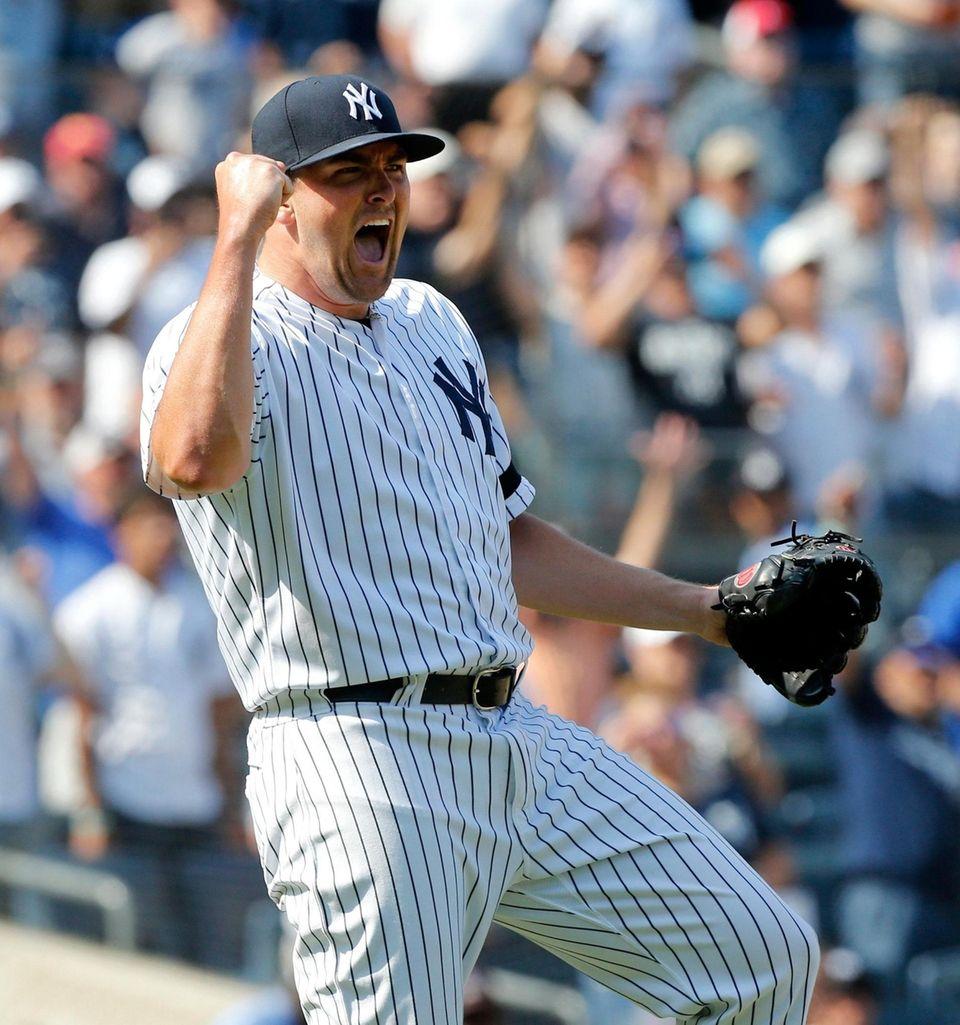 Jonathan Holder #56 of the New York Yankees