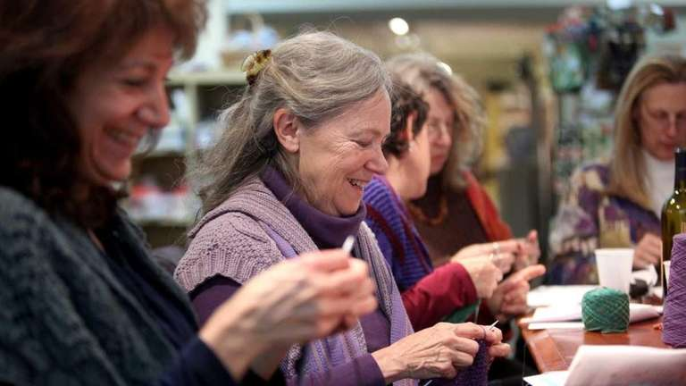 It's knitting nights at yarn/needle stores across Long