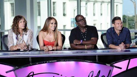 Steven Tyler, Jennifer Lopez, Randy Jackson and Ryan