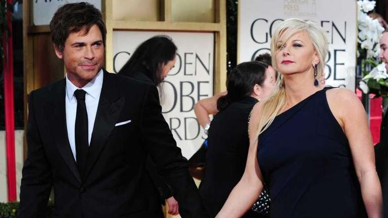 Actor Rob Lowe arrives with his wife Sheryl