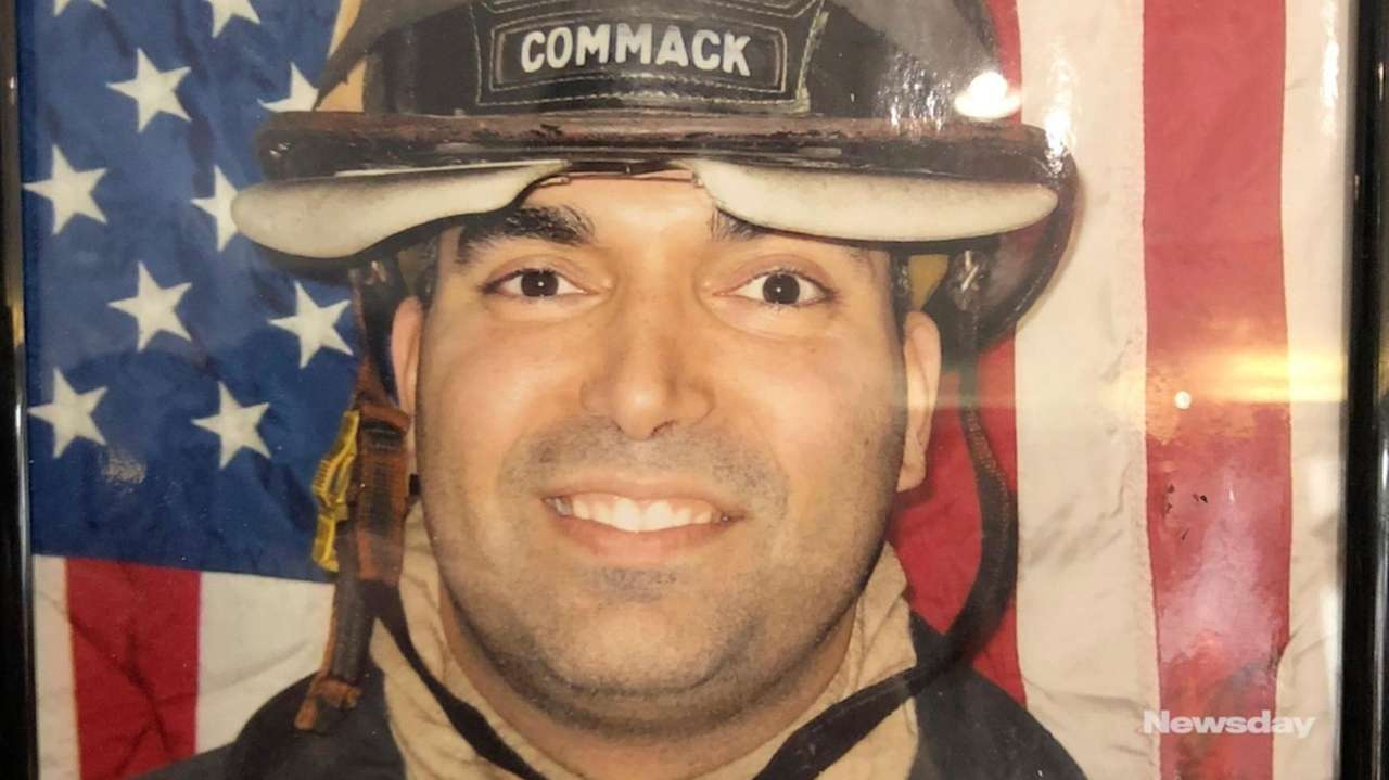 Friends and family of FDNY Lt. Christopher Raguso,