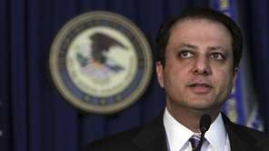 U.S. Attorney Preet Bharara speaks during a news