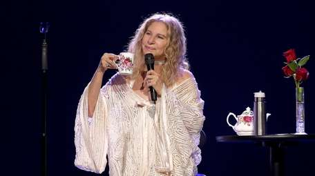Barbra Streisand performs onstage at Madison Square Garden