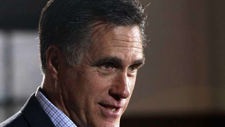 Republican presidential candidate Mitt Romney campaigns at Winthrop