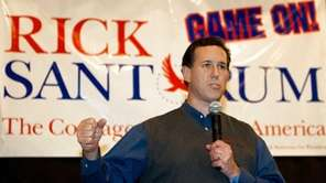 Republican presidential hopeful Rick Santorum delivers remarks to