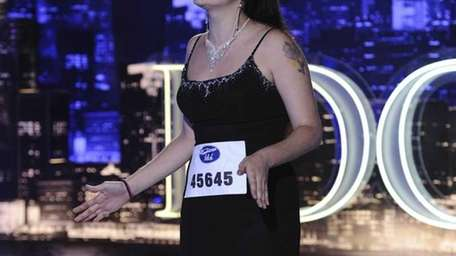 Contestant Amy Brumfield auditions on the