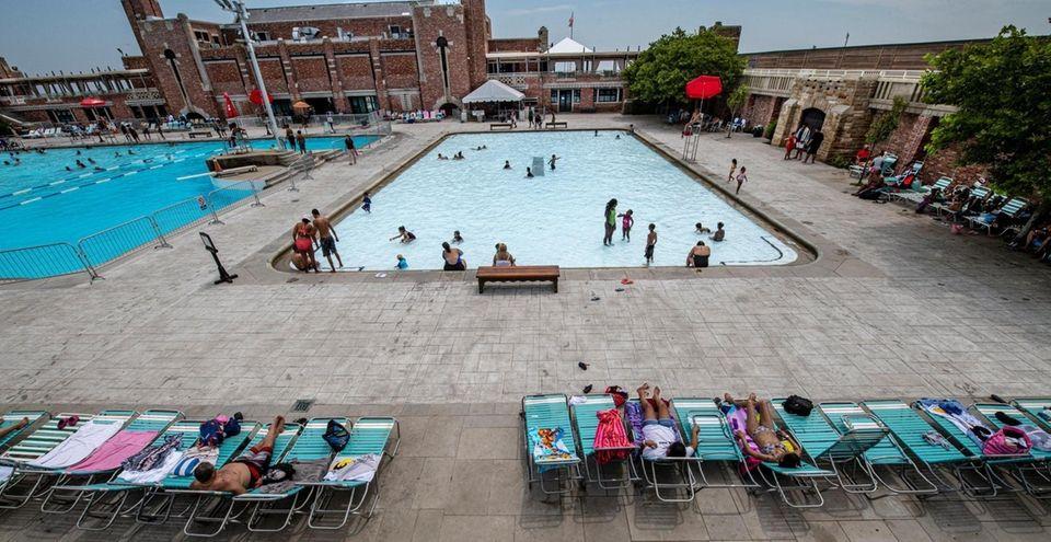 The West Bathhouse Pool at Jones Beach Wednesday