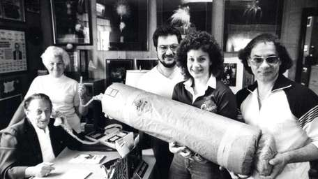Concetta and Felix Grucci, at right, pose with