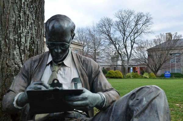 "A sculpture titled ""Creating"" by J. Seward Johnson"