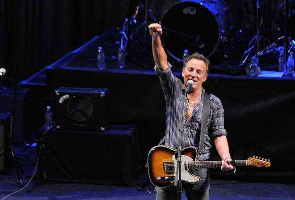 Singer/songwriter Bruce Springsteen performs during the 2012 Light