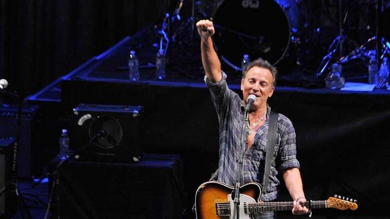 Singer/songwriter Bruce Springsteen performs during the 2012 Light