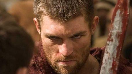 "Liam McIntyre as Spartacus in Starz's ""Spartacus: Vengeance."""