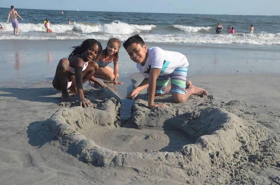 Building a sand box at the beach 8/2/19