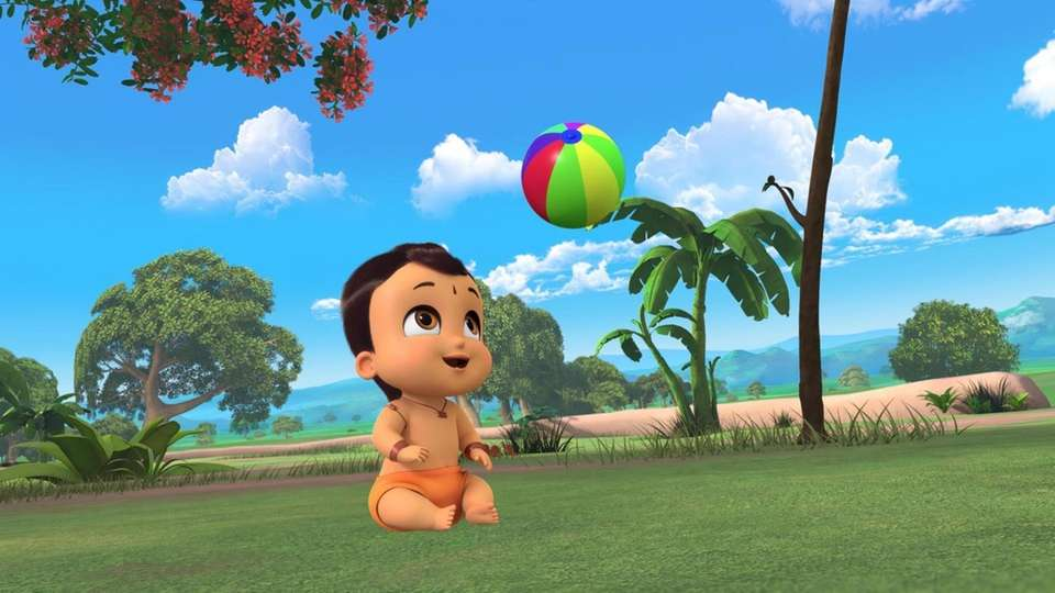 The strong toddler Bheem is always up to