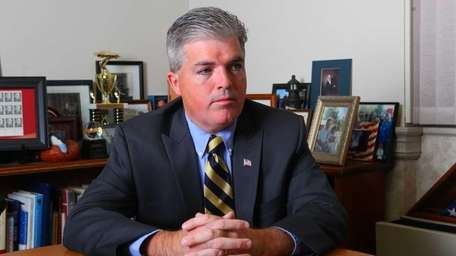 Suffolk County Executive Steve Bellone, above, backed Anthony