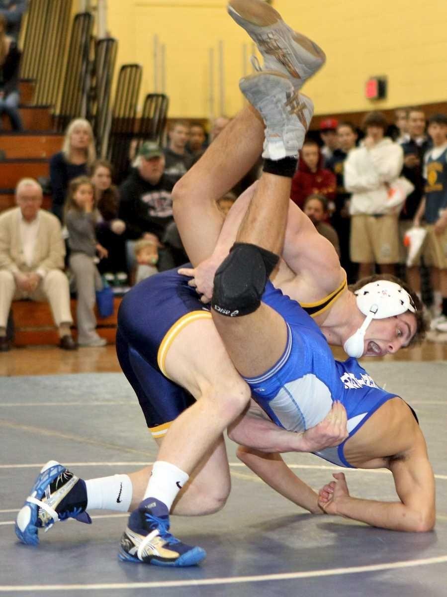 Glenn's Bismark Huertes is driven into the mat