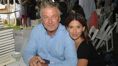 Alec Baldwin, with his wife, Hilaria, at last