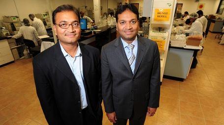Chirag Patel, left, and Chintu Patel, shown in