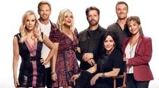 "The cast members of  ""BH90210"" are, from"