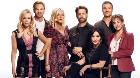 """The cast members of  """"BH90210"""" are, from"""