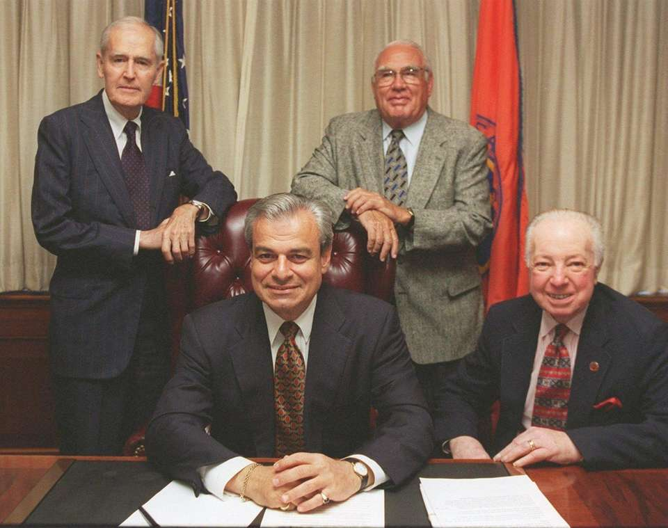 Four Nassau County executives pose l-r: Judge Eugene