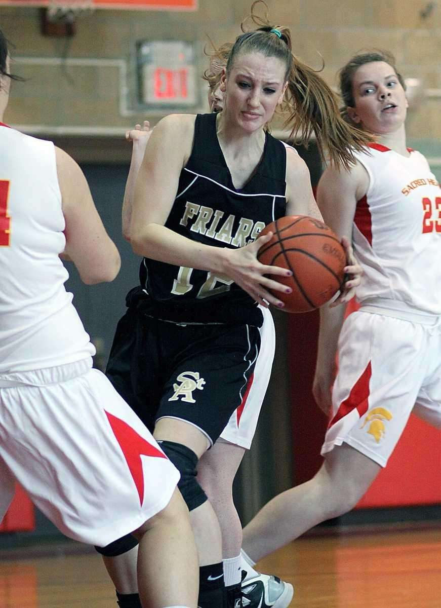 St. Anthony's Rebecca Musgrove works her way inside