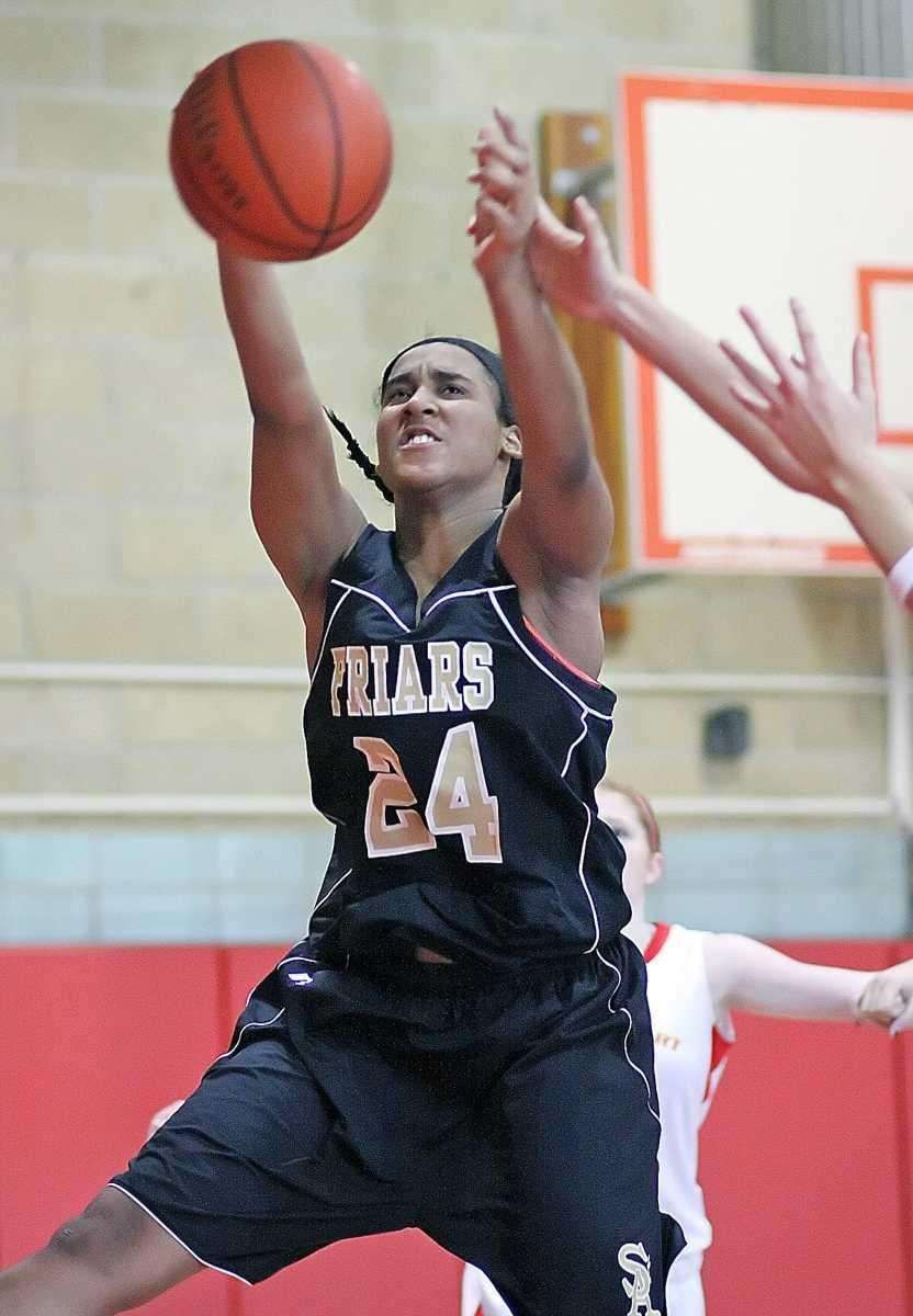 Under the basket play by St. Anthony's Symone