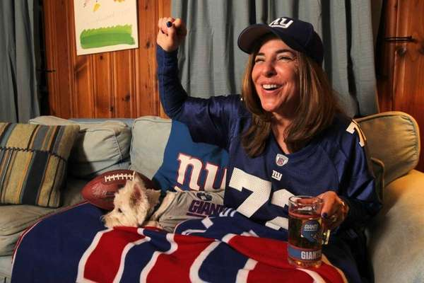 Melissa Ash Bernstein, of Woodmere, prepares for Sunday's