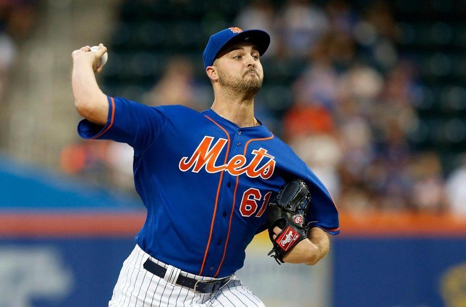 Walker Lockett #61 of the New York Mets