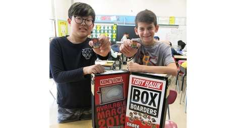 Kidsday reporters Jun Ko, left, and Riley Wilk