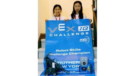 Kidsday reporters Julia Xu, left, and Chloe Ning,