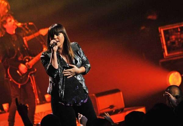 Singer Kelly Clarkson performs at Radio City Music