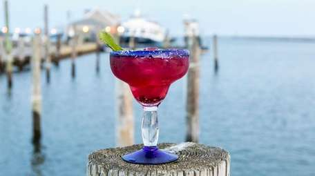 A Jack Frost Margarita made at the Drift