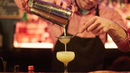 The Alpaca with pisco, yellow chartreuse, pineapple, and