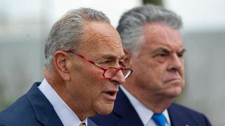 Sen. Chuck Schumer (D-N.Y.) and Rep. Peter King