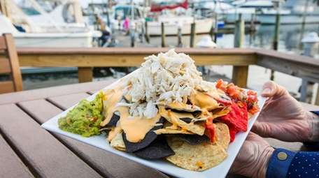 Crab Nachos at the Harbor Crab in Patchogue.