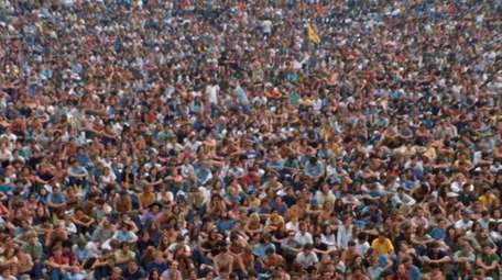 "Crowd scene from  ""Woodstock: The Director's Cut."""